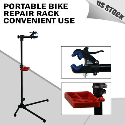 PRO Portable Mechanic Bike Repair Stand Bicycle Workstand W/Tool