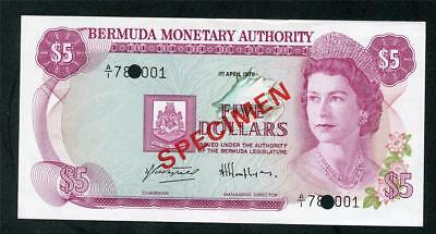 "1978 Bermuda $5.00 ""bermuda Monetary Authority ""  Pick #29 S  Please Lqqk!!*"