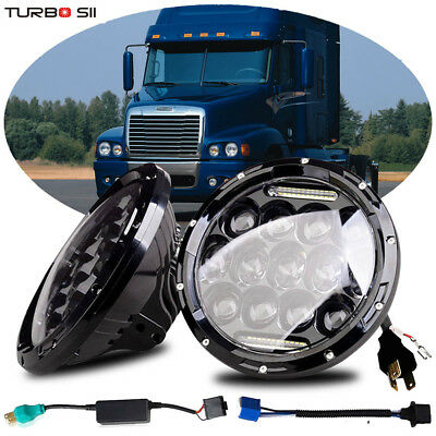 Freightliner Century Lights 7inch LED Projector H4 Headlights For Pre 2005 Model