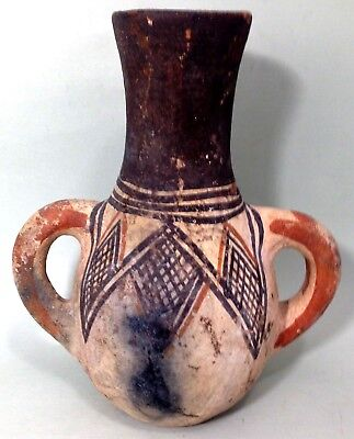 Very old hand made Moroccan Berber two handled pottery urn