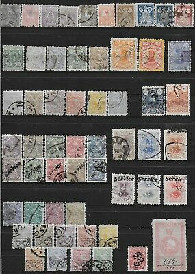 3638: Postes Persanes; classic collection, 94 stamps. arms, portraits. 1885-1914
