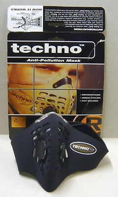 Techno Anti Pollution Mask      Large    Black