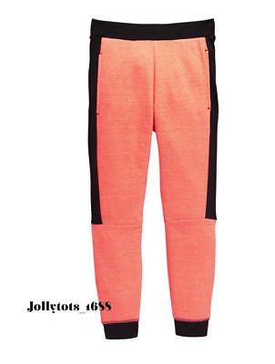 V By Very Girls Neon Ribbed Jogger Bottoms Black Trims Ages 3-14 Years RRP £17