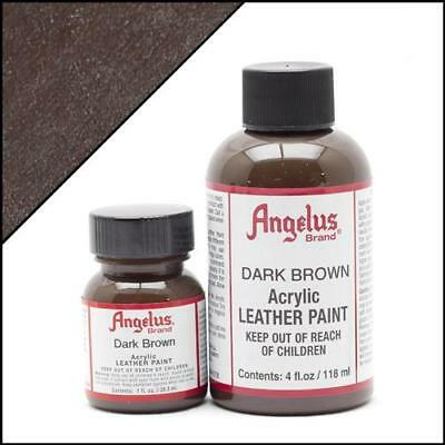 Angelus Acrylic Leather Paint Dark Brown 1 oz Bottle Colour f Shoes/Sneakers/Car