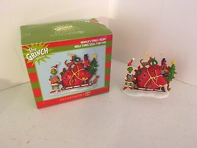 Dept 56 The Grinch Dr Seuss Grinch's Small Heart Grew Three Sizes That Day
