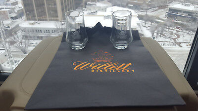 Willett Distillery bourbon tasting glasses and gift bag