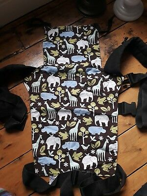 Connecta Baby Sling Animal Print buckles baby carrier- needs some sewing repair