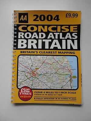 AA 2004 Concise Road Atlas Britain (Spiral Bound)