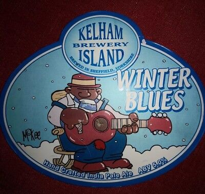 Kelham beer pump clip Pete Mckee Winter blues