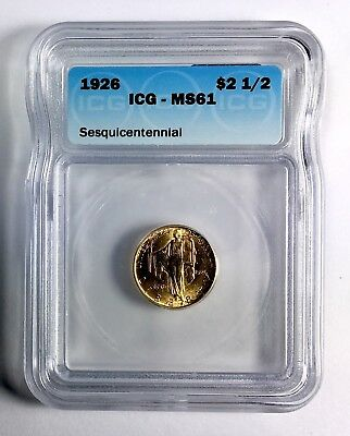 1926 Sesquicentennial $2.50 Gold Commemorative – ICG MS61
