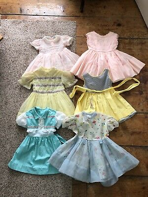 Vintage 1950s 1960s Girls Dress Lot Toddler Party Sheer 2T 3T AS IS