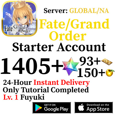BUY 2 GET 1 FREE | [JP] Fate Grand Order FGO Starter Account 180-300 SQ + More