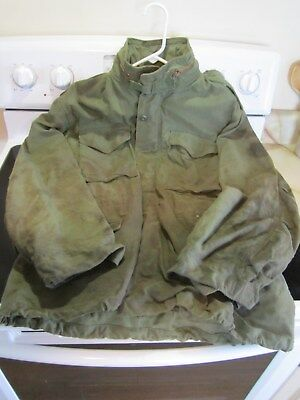 Vintage Vietnam War US Army Military M-65 Combat Jacket With Hood Field Gear