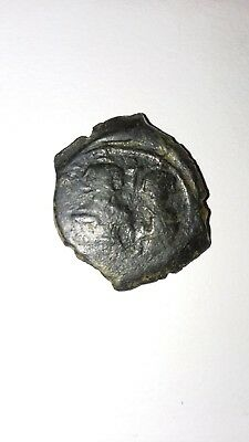 Byzantine Empire Bronze Coin. Emperor Heraclius 610-641 A.d. Great Detail