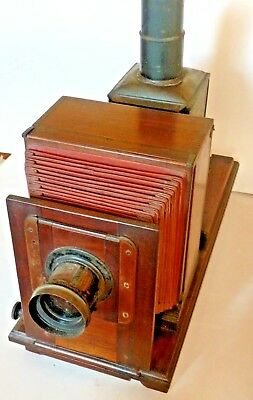 Museum quality mahogany horizontal enlarger manufactured by G Houghton 1890