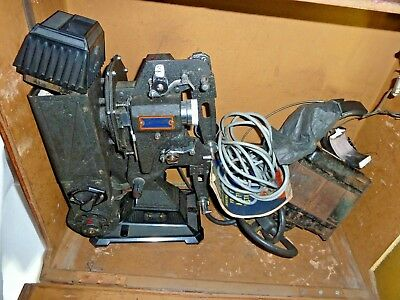 1930's Pathescope 9.5 200B projector with transformer and case and brochure