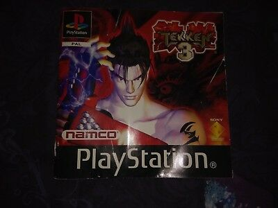 **Instruction Manual Only** Tekken 3 PS1 Playstaition PAL Black Label Free Post