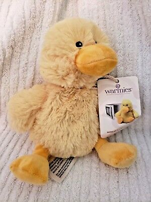 Warmies Cozy Plush -  Duck Junior Mini Therapy Microwavable Heatable Toy