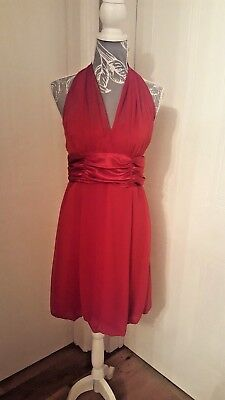 9dbc27e30178c Macy's US Connected Apparel Red Cocktail/Party/Prom Dress Size UK 12  Stunning