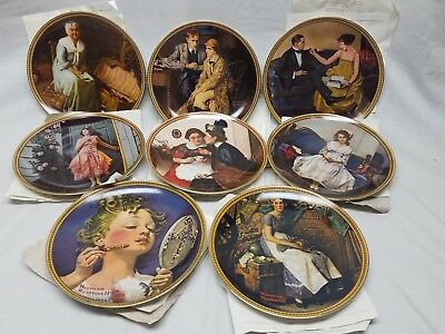 Norman Rockwell Rediscovered Women Collection 8 Collector Plates Edwin Knowles