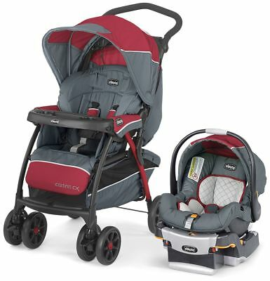 NEW Chicco Cortina CX Travel System Stroller & Key Fit 30 Infant Car Seat LAVA