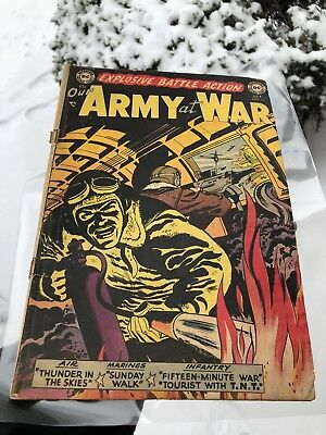 Our Army at War #15  Golden Age DC War Comic 1953 10cent Oct no. 15