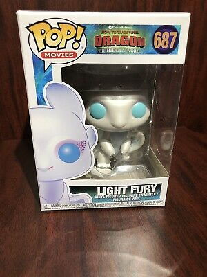 Funko Pop! Light Fury #687 How To Train Your Dragon W/PROTECTOR