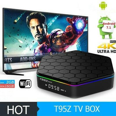 UK T95Z Plus S912 2GB+16GB Octa Core Android 7.1 TV Box Dual Band WIFI  2.4/5Ghz