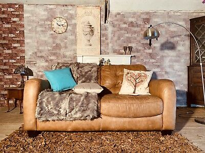 Admirable Distressed Vintage Dfs 2 Seater Chesterfield Tan Leather Pdpeps Interior Chair Design Pdpepsorg