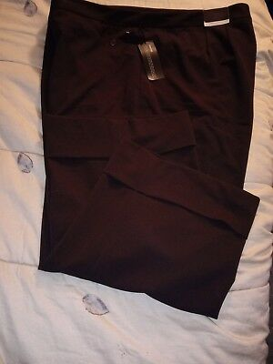 7ece4280c05 Lane Bryant Outlet Women s Plus Size 28 Houston Cropped Wide-Leg Brown Pants