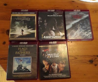HD DVD Lot of 4 - Flags of our Fathers, Perfect Storm, Million $ Baby, Letters