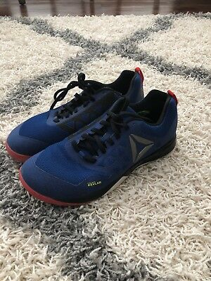 691cc8bdf19afe Reebok CrossFit Nano 6 Mens Cross Training Sneakers w  Kevlar Blue Red Size  10