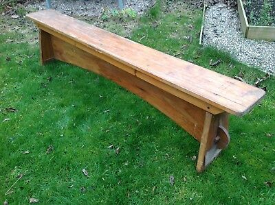 Vintage School Bench Wooden Industrial 81 Inch Two Available Pair Kitchen/garden