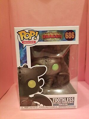 FUNKO Pop How Train Your Dragon 3 Hidden World TOOTHLESS #686 W/ Protector