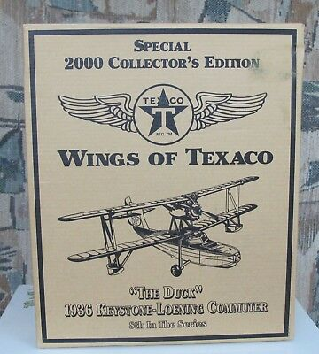 Texaco Airplane Bank The Duck 1936 Collectors Edition Die Cast Metal
