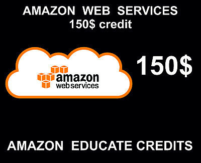 150 Amazon Web Services Credits, Educate AWS, Promocode, 2018, 2019 Event