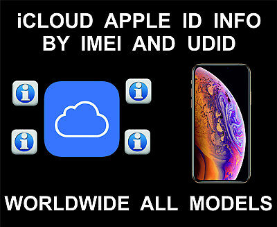 iCloud Owner's Info, Phone, Apple ID, Worldwide, By IMEI and UDID, iPhone, iPad