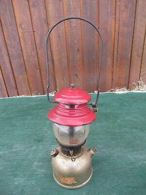 Vintage Coleman Lantern RED + CHROME Model 200 Made in Canada Dated 1 58 1958