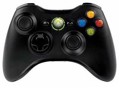 Official Microsoft Xbox 360 Wireless Controller Black NEW !!