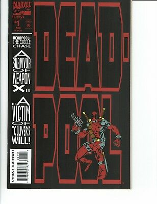 Deadpool Circle Chase #1 NM Gem Key 1st Solo Series Issue X-men WOW!