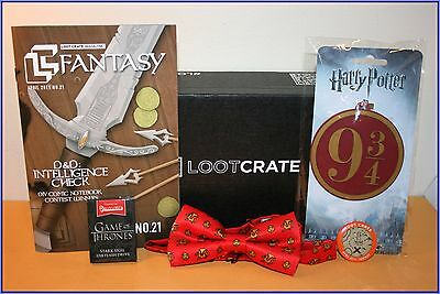 LOOTCRATE April 2015 Fantasy Box Items Game of Thrones Harry Potter