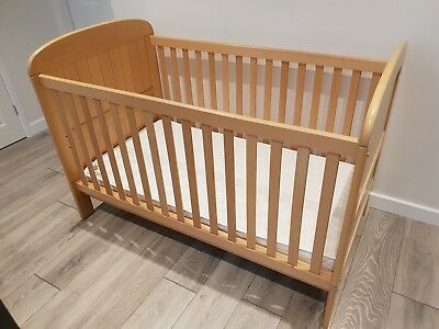 John Lewis Beech Cot Bed - Excellent Condition
