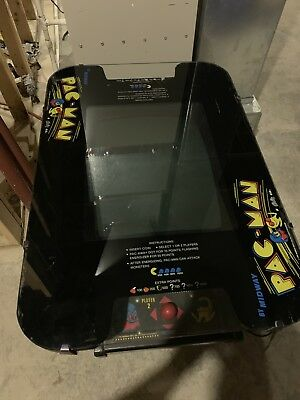 Vintage Pac Man Pacman Cocktail Table Video Arcade Game Midway / Bally 1980's