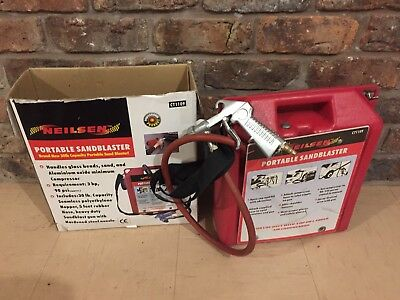 Neilsen Portable Sandblaster Boxed Used For Air Compressor Auto Tool