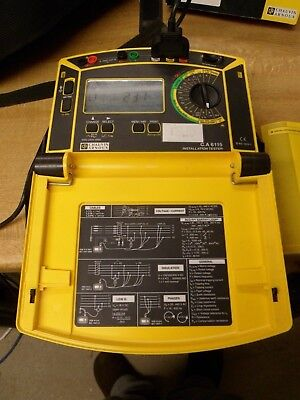 Chauvin Arnoux multifunctional installation tester CA 6115 complete & carry case