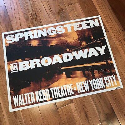 Bruce Springsteen On Broadway Poster • Numbered • Limited • Lithograph • 229/500
