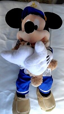 "Disney Parks Authentic Large 17"" Sailor Mickey Mouse with Duffy Bear Plush"
