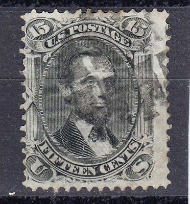 US  # 98 VF used  series 1866 Grill 9x 13mm, thin paper variant cv=$ 475