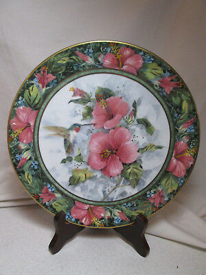 Royal Doulton Franklin Mint Hummingbird Plate Imperial