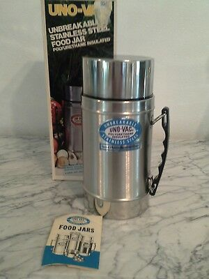 Uno-Vac Stainless Steel Thermos 20 oz #175 w/box